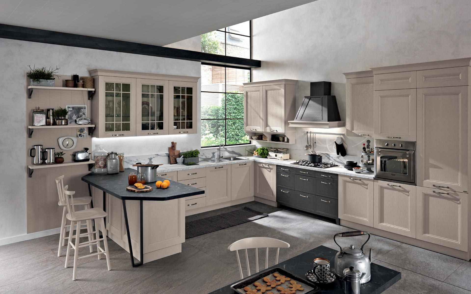 Cucine componibili arredamento soggiorno e camera spar for Arredamento md