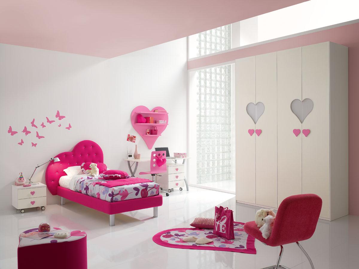 Camerette Per Bambina Romantica. Cameretta Per Ragazze Rosa Di ...