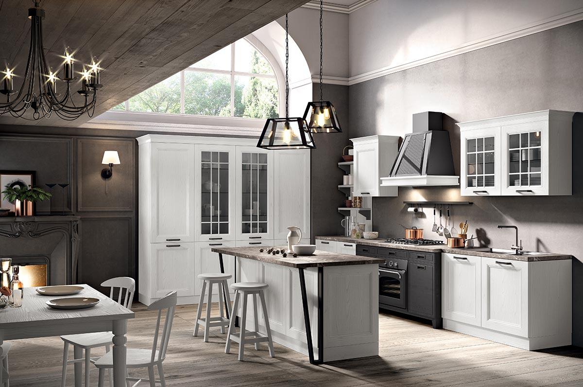Cucina classica componibile modello maryland spar - Cucina classica bianca ...