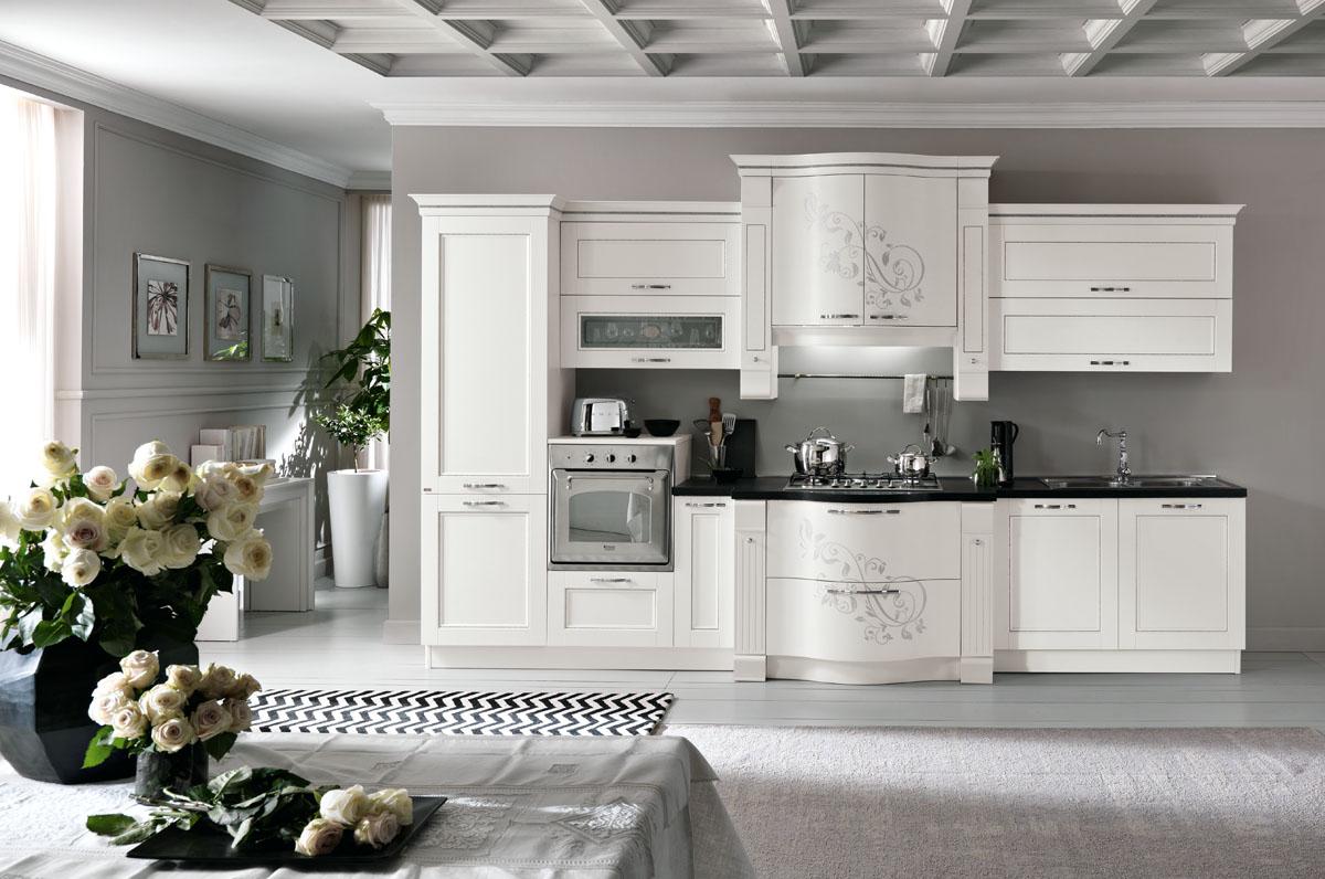 Cucina classica componibile cucina prestige spar - Cucina classica bianca ...