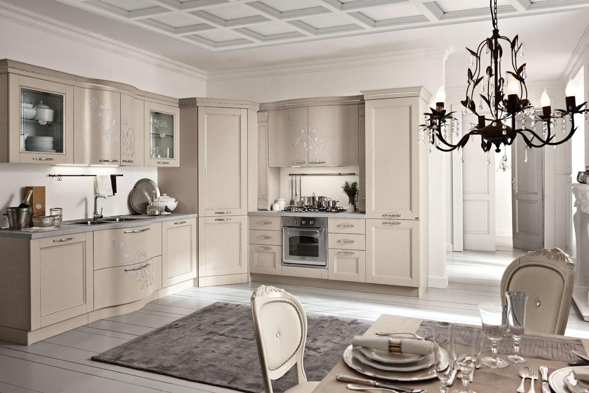 Cucina classica componibile cucina prestige spar - Cucina color tortora ...