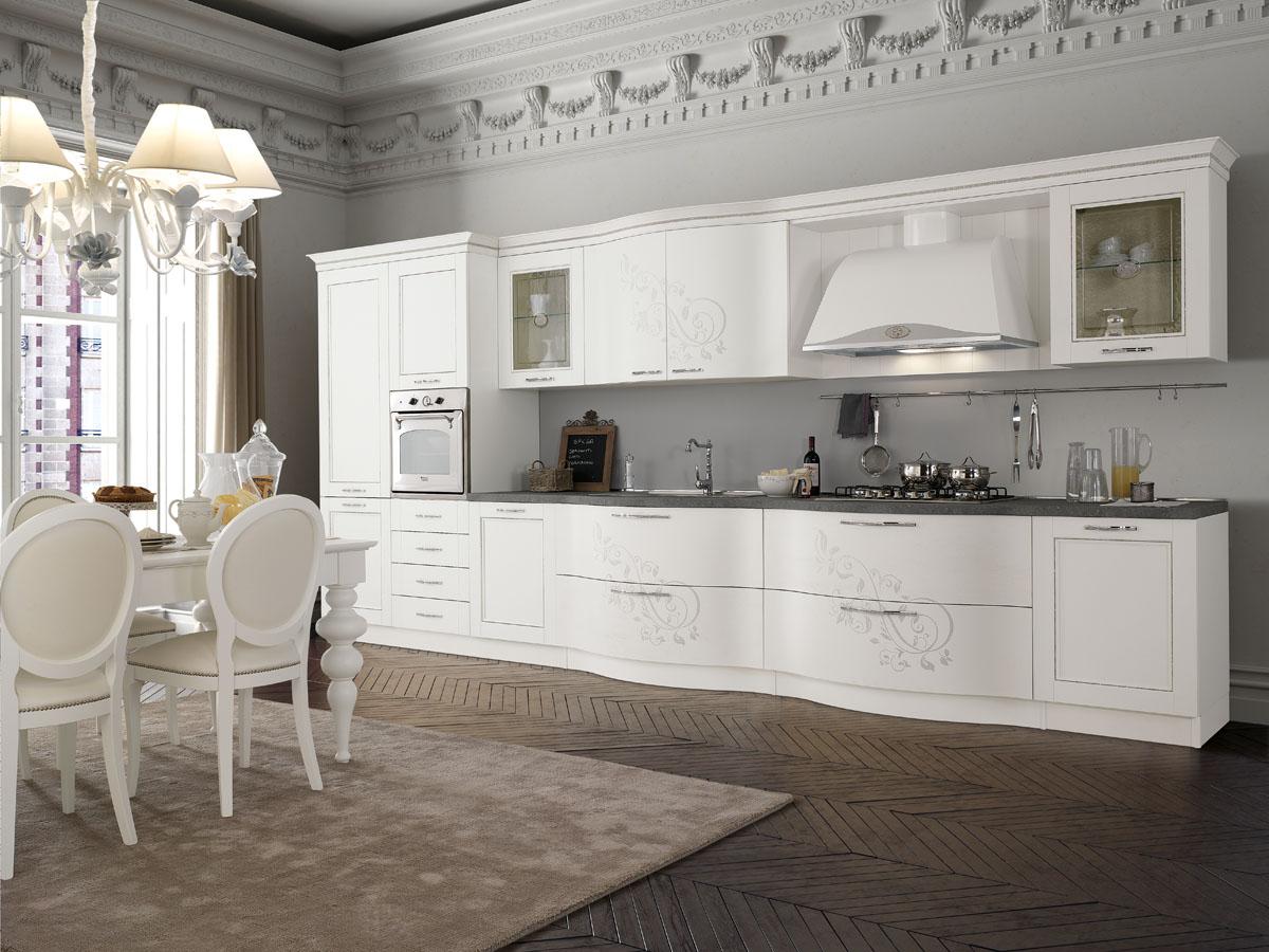 Cucina classica componibile cucina prestige spar - Cucine componibili bianche ...