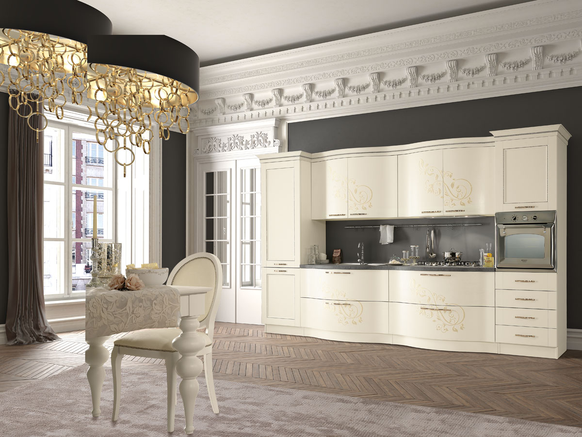 Cucina classica componibile cucina prestige spar - Cucine color avorio ...