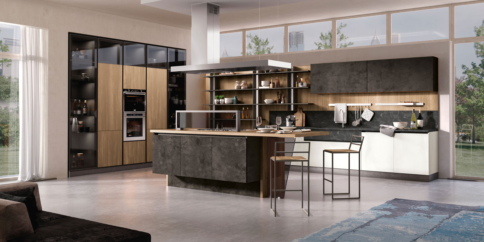 Cucina componibile moderna cucina miami spar - Foto cucine moderne ...