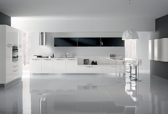 Cucine moderne componibili e cucine su misura spar - Cucine componibili bianche ...
