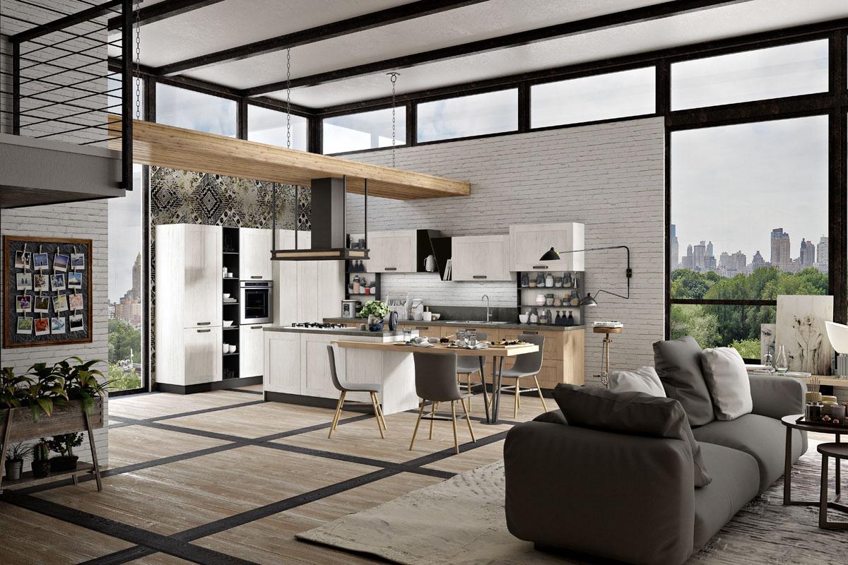 Cucina componibile moderna cucina daytona spar for Le mura arredamenti