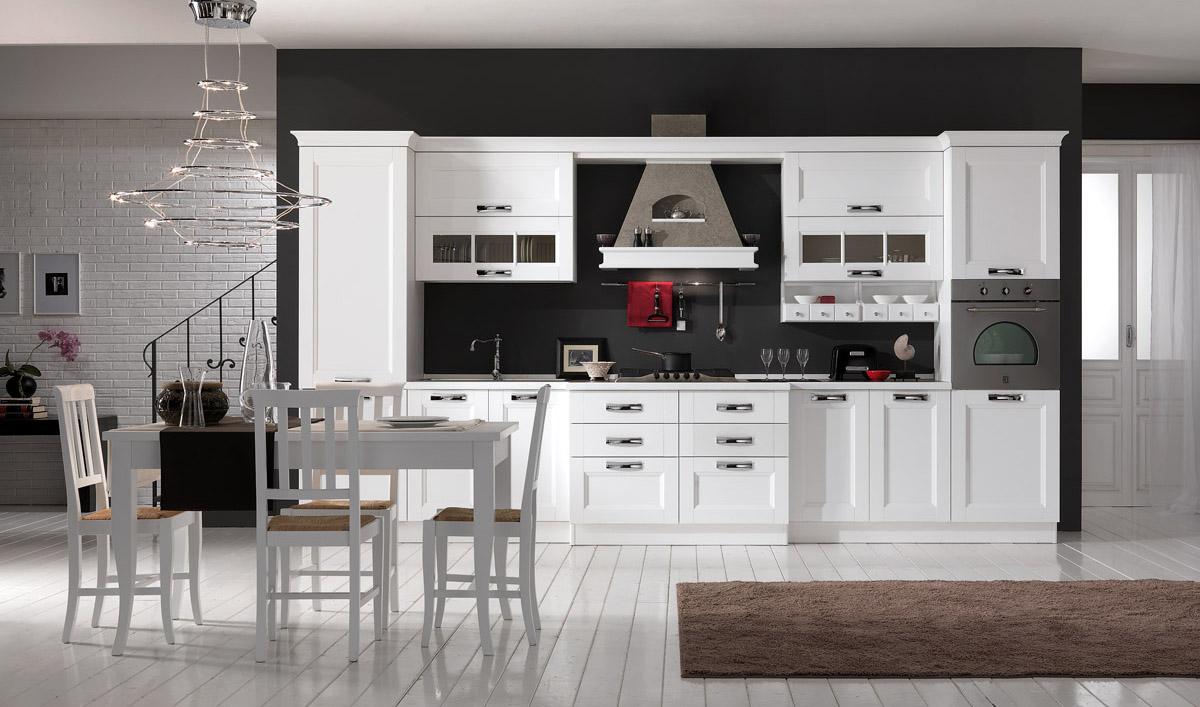 Cucina moderna bianco frassino - Cucina Merano | Spar