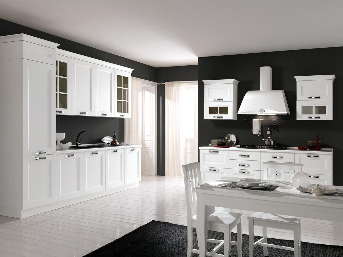 Modello Merano - Cucina moderna bianco frassino | Spar