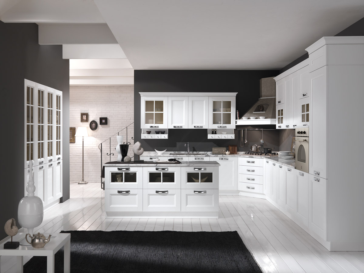 Popolare Cucina moderna bianco frassino - Cucina Merano | Spar JD62