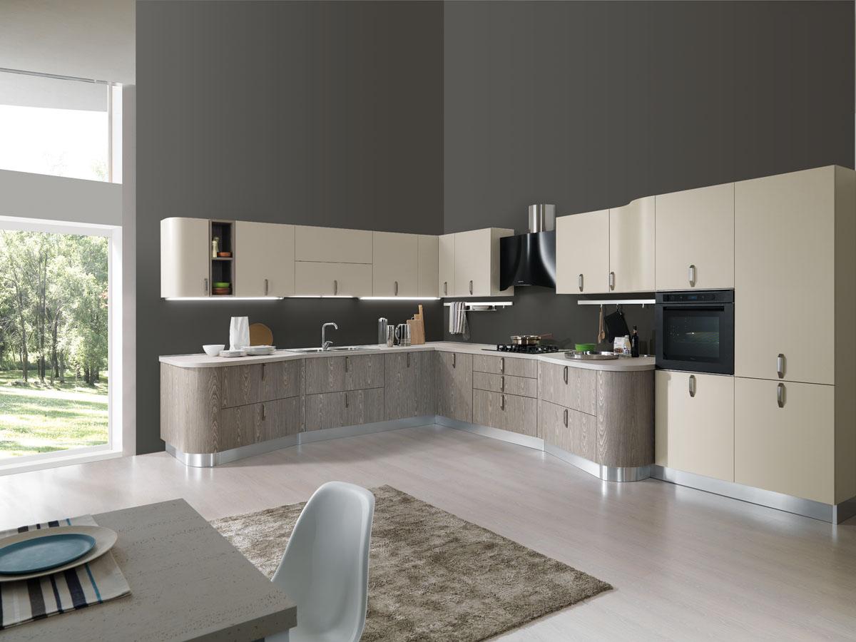 Cucina moderna componibile su misura cucina miami spar for Cucine moderne ad angolo