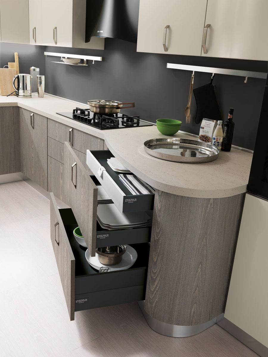 Modello Miami - Cucina componibile moderna | Spar