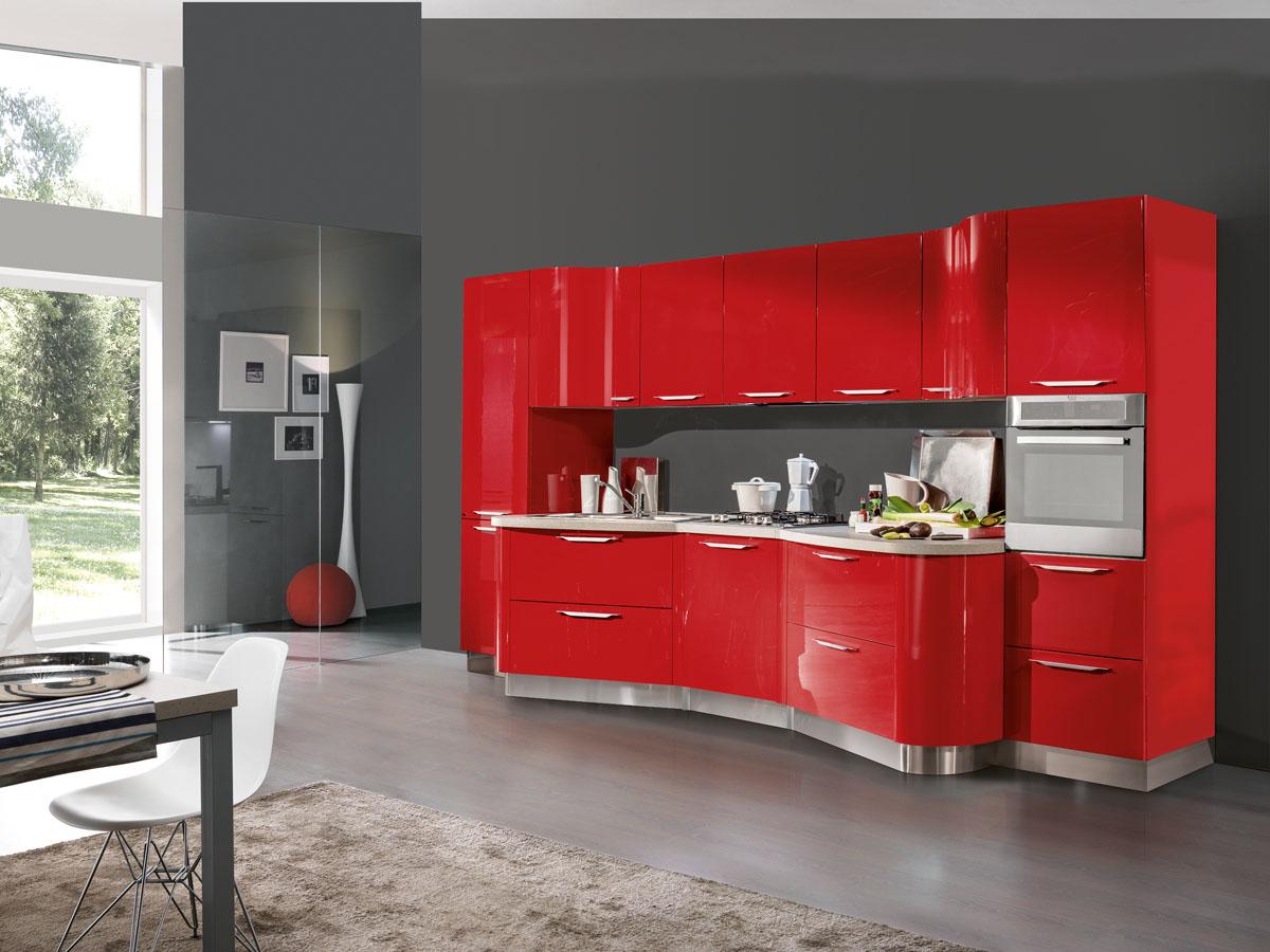 Cucina Rossa. Cucina Ampia Rossa Laccata With Cucina Rossa. Amazing ...