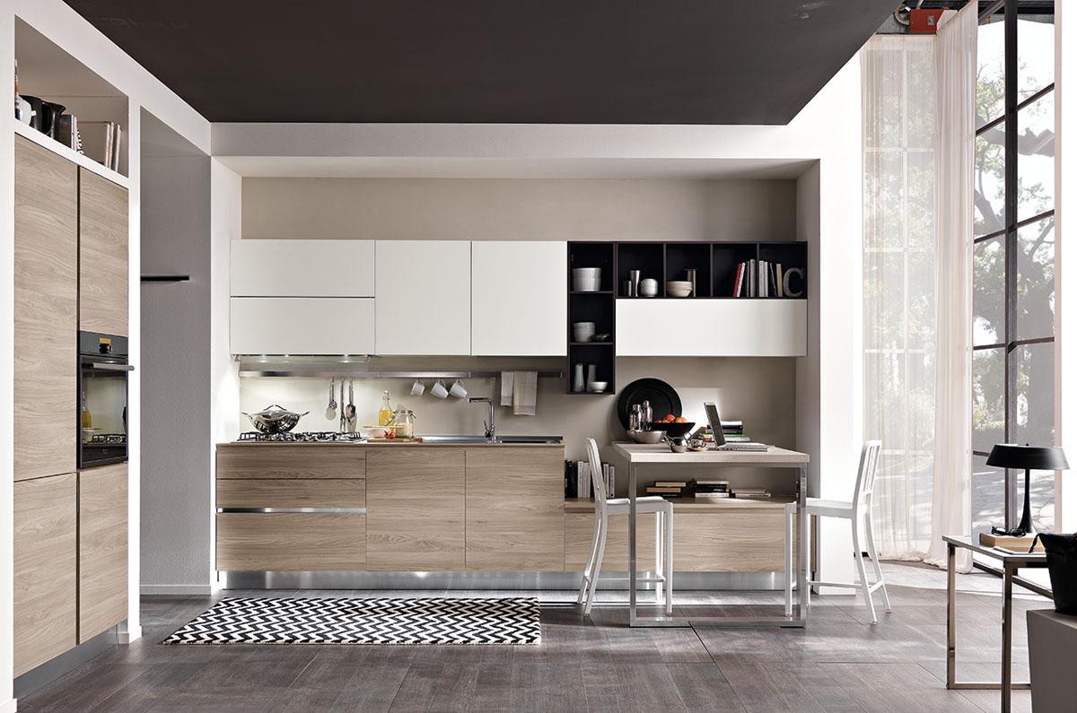 Cucina moderna bicolore minimal cucina tokyo spar - Immagini di cucina ...