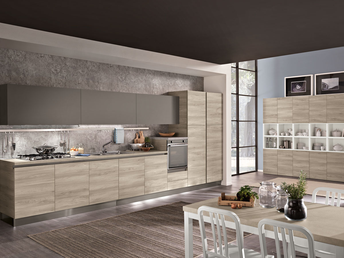 Cucina moderna bicolore minimal cucina tokyo spar - Piastrelle geometriche cucina ...