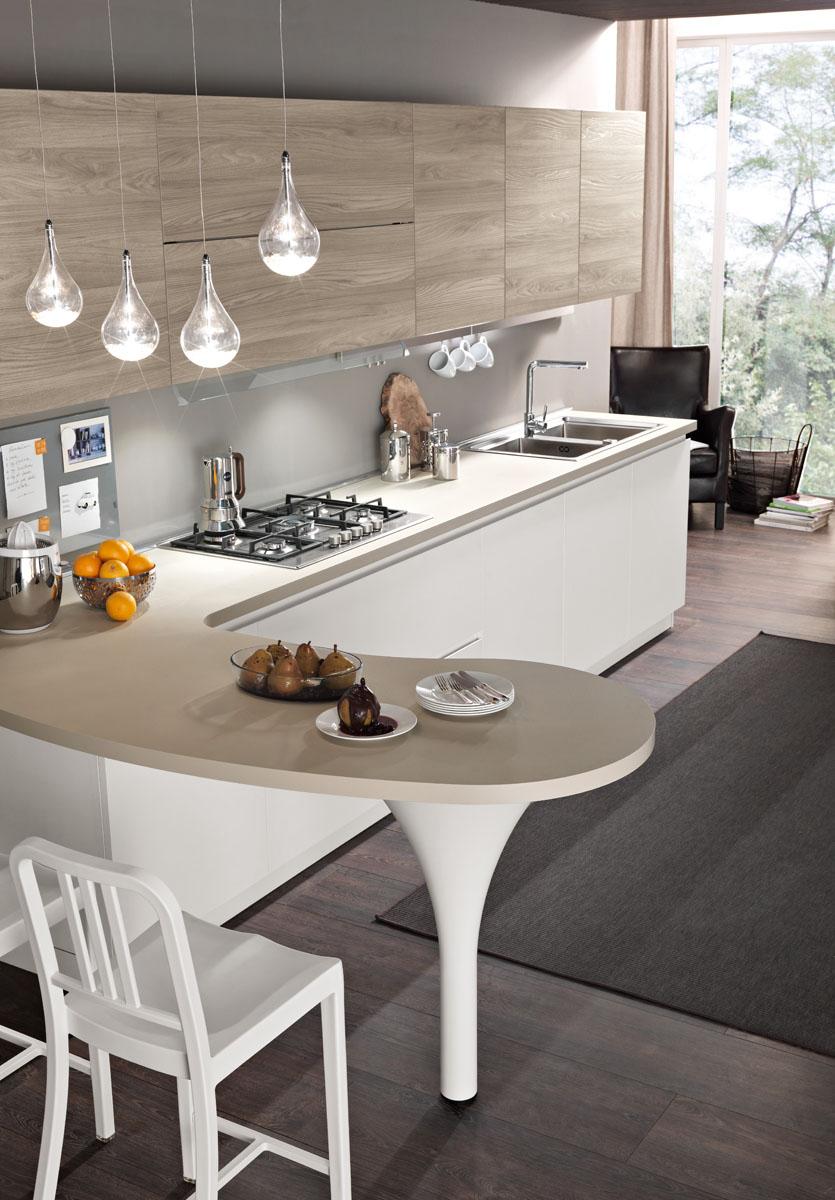 Great dettaglio pensiola with cucine moderne bicolore - Cucine bicolore moderne ...