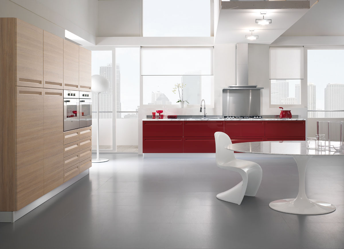 Cucina moderna componibile cucina tropea spar - Cucine moderne colorate ...