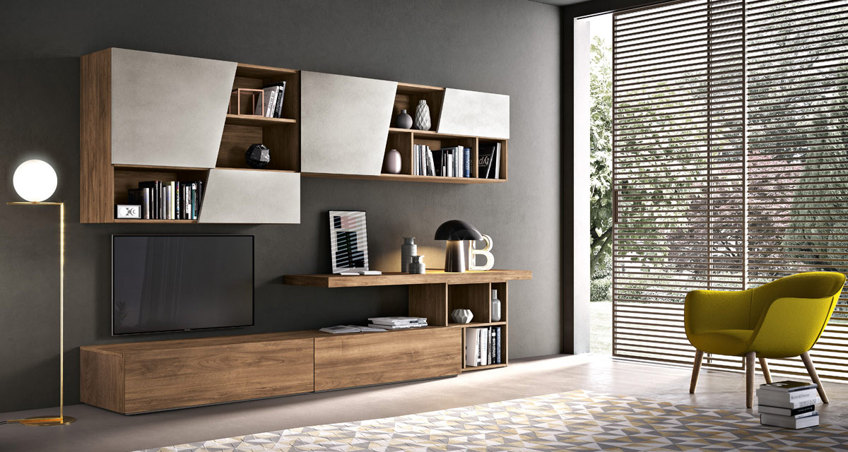 Arredamento soggiorno moderno modello dayone spar