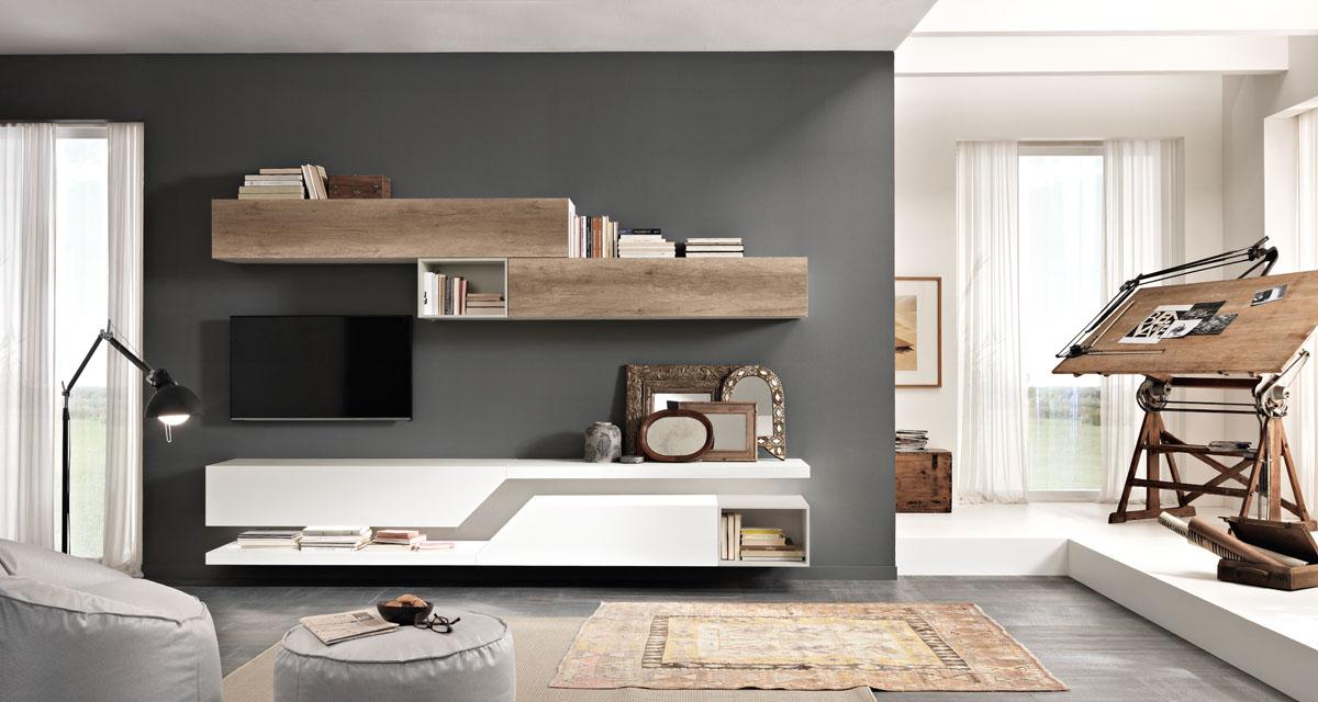 Modello exential mobili living giono componibili spar - Living mobili soggiorno ...