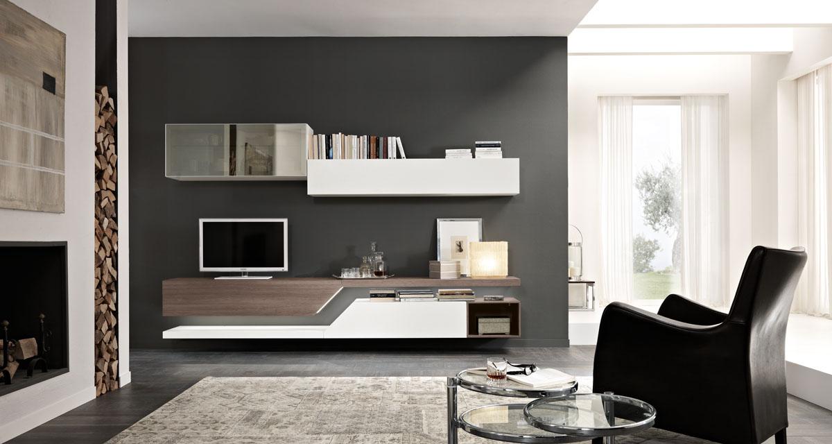 arredamento soggiorno moderno modello exential spar