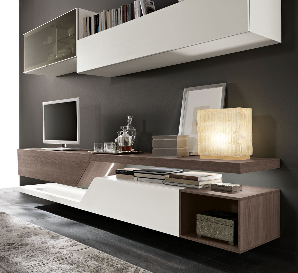 Soggiorni Moderni Spar.Model Exential Modular Living Room Furniture Spar