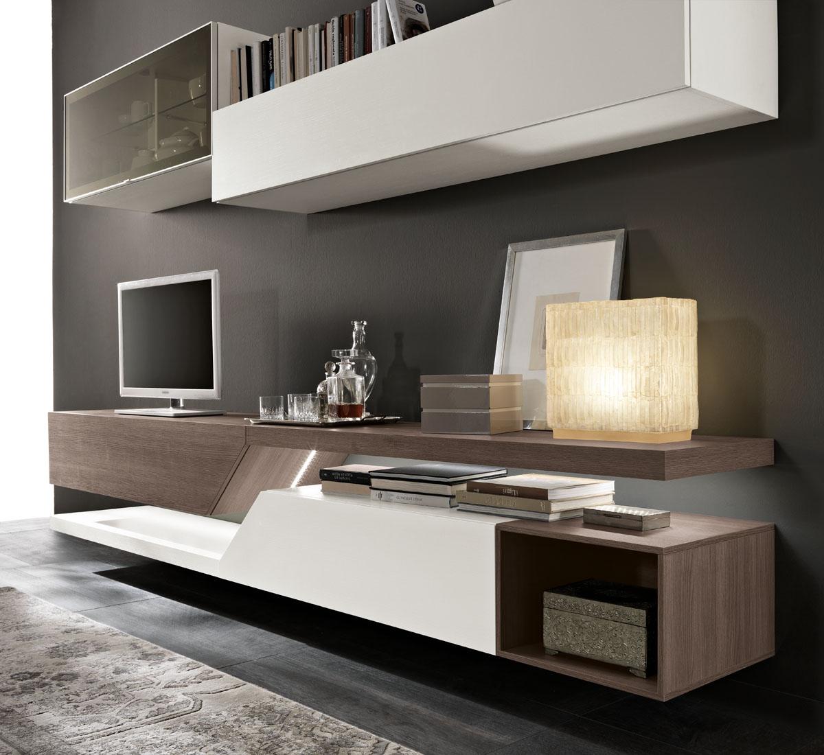 Modello exential mobili living giono componibili spar - Arredo soggiorno moderno ...