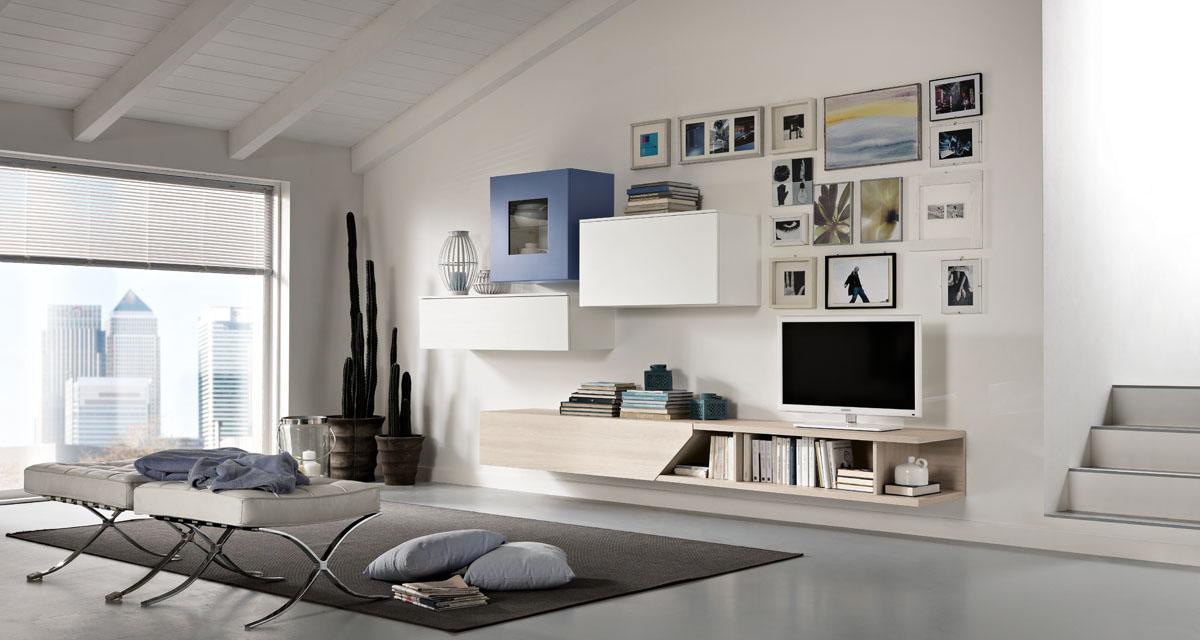 Mobili salotto moderno modello exential spar for Composizioni soggiorno design