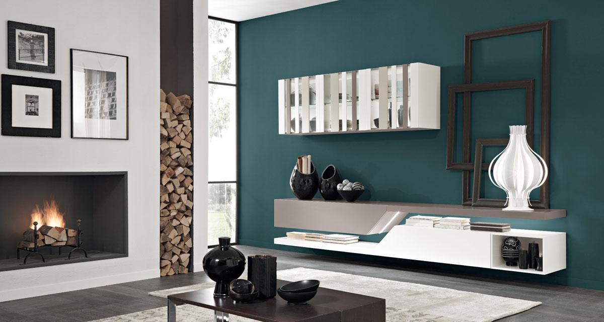 Arredamento soggiorno moderno modello exential spar for Pittura soggiorno moderno