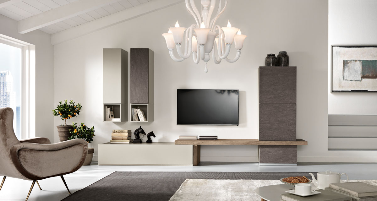 Arredamento soggiorno moderno modello exential spar for Arredamento lussuoso