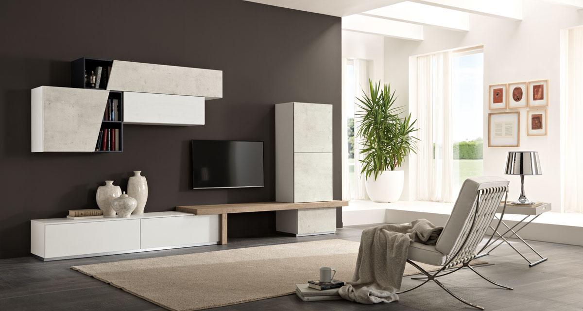 Arredamento soggiorno moderno modello exential spar for Zona living moderna