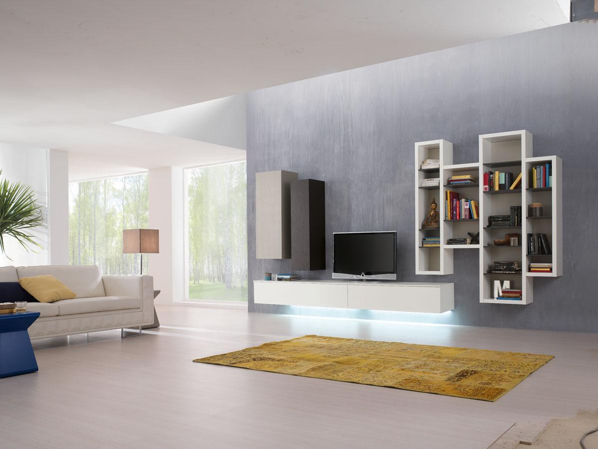 Arredamento soggiorno moderno modello exential spar for Mobili salotto