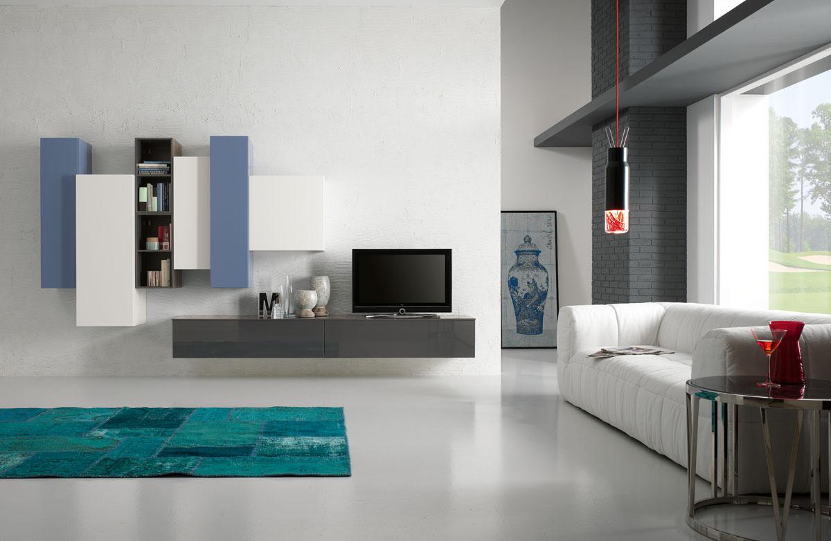 Arredamento soggiorno moderno modello exential spar for Arredo minimal home