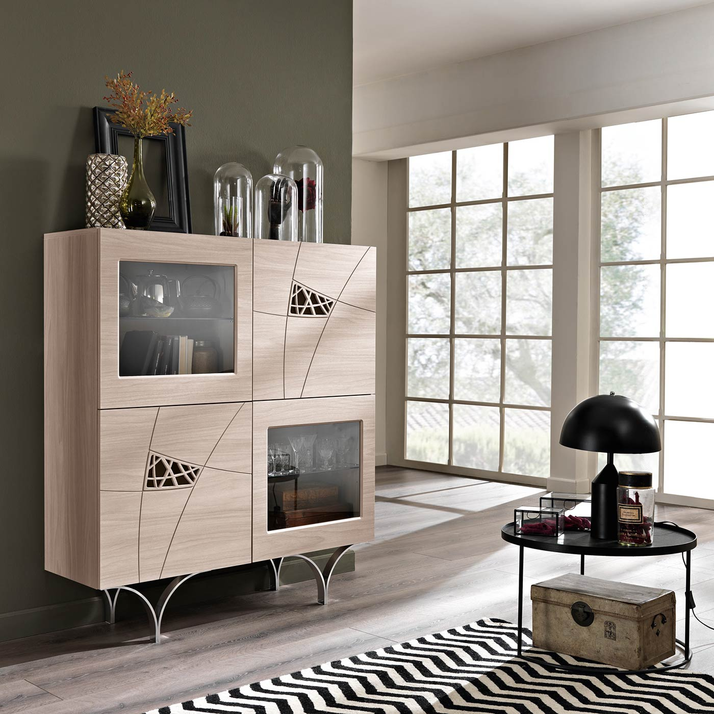 Arredamento soggiorno moderno modello lapis spar - Mobile soggiorno moderno ...