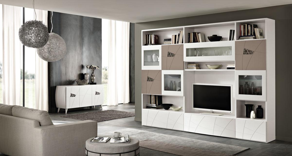 Arredamento soggiorno moderno modello lapis spar for Mobile sala da pranzo moderno