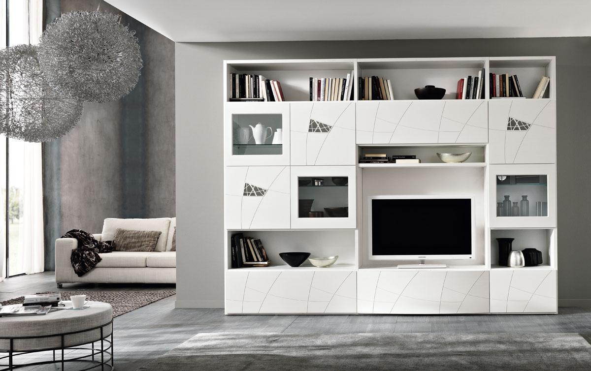 Modello Lapis– Mobili living giorno componibili  Spar