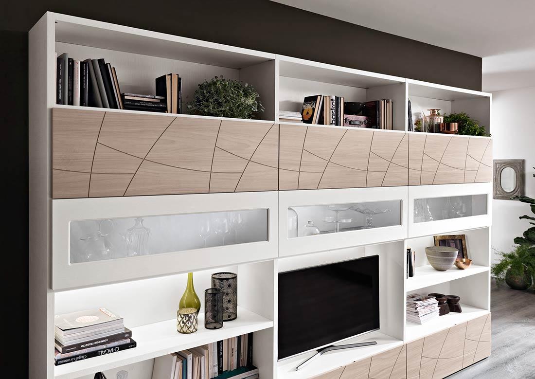 Arredamento soggiorno moderno modello lapis spar for Mobili giorno moderni