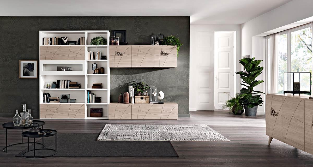 Arredamento soggiorno moderno modello lapis spar