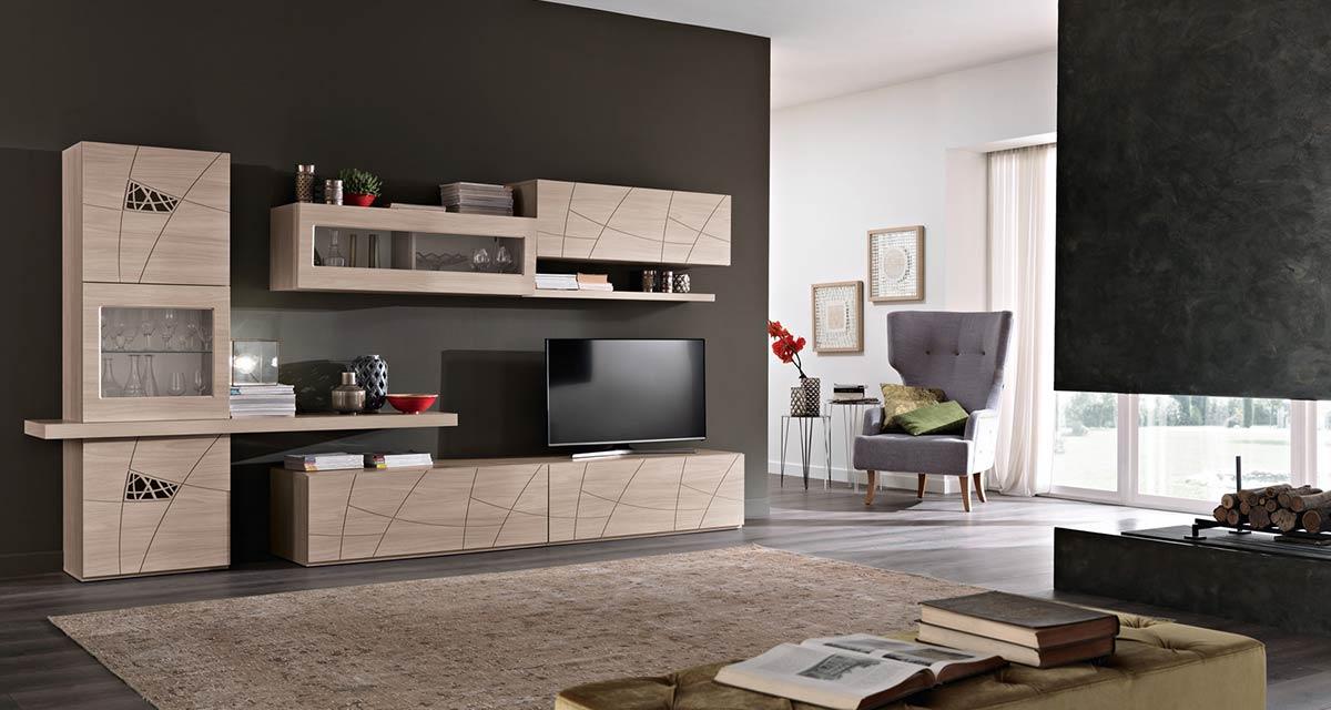 Arredamento soggiorno moderno modello lapis spar for Arredamento living