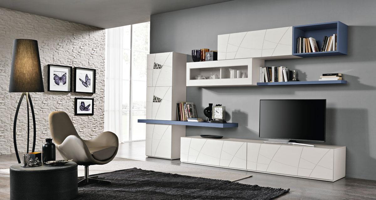 Arredamento Soggiorno Moderno - Modello Lapis | Spar