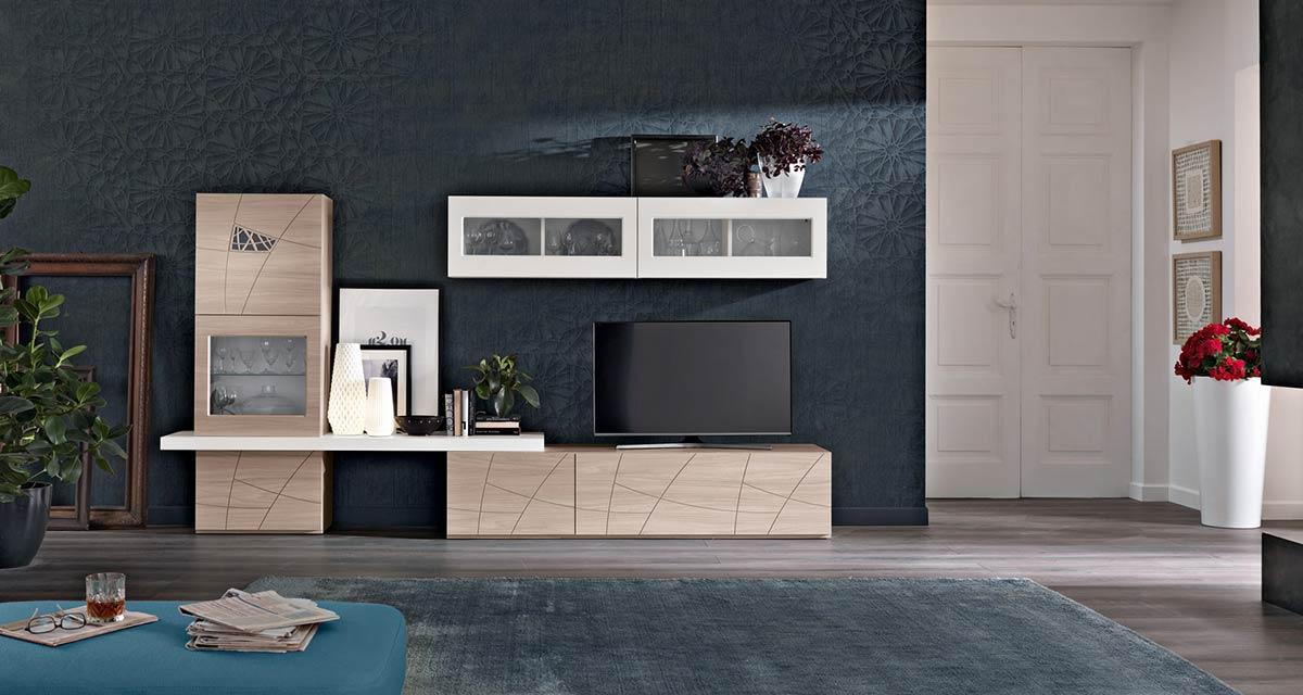 Modello lapis mobili living giorno componibili spar - Mobili zona giorno moderni ...