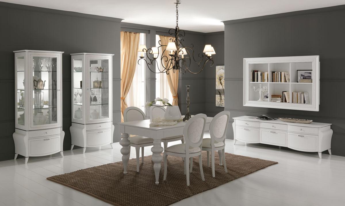 Arredamento soggiorno classico modello prestige spar for Arredamento classico bianco