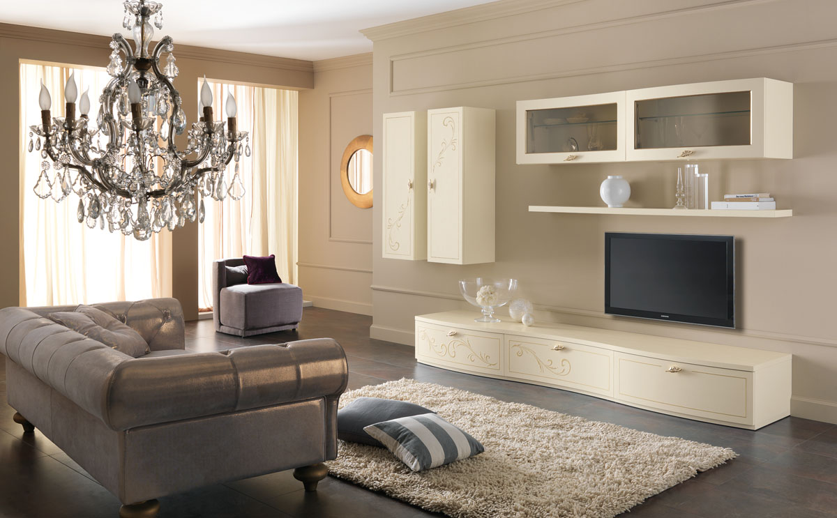 Arredamento soggiorno classico modello prestige spar for Arredamento stile liberty
