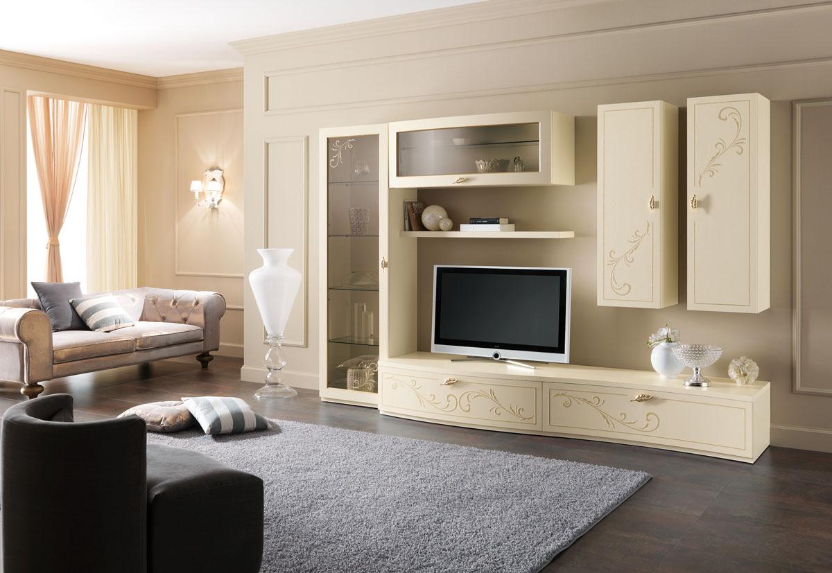 Arredamento soggiorno classico modello prestige spar for Case arredate classiche foto