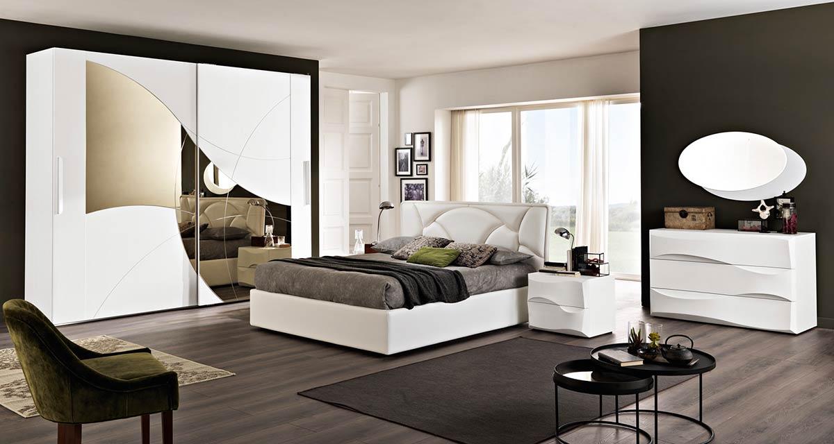 Modello contemporaneo arredo zona notte spar - Camera da letto contemporanea bianca ...