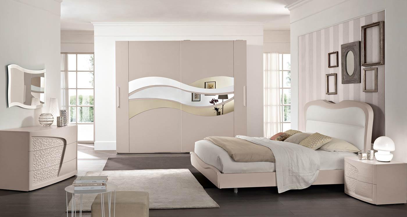 Arredamento camera da letto modello prestige spar - Camera da letto contemporanea bianca ...