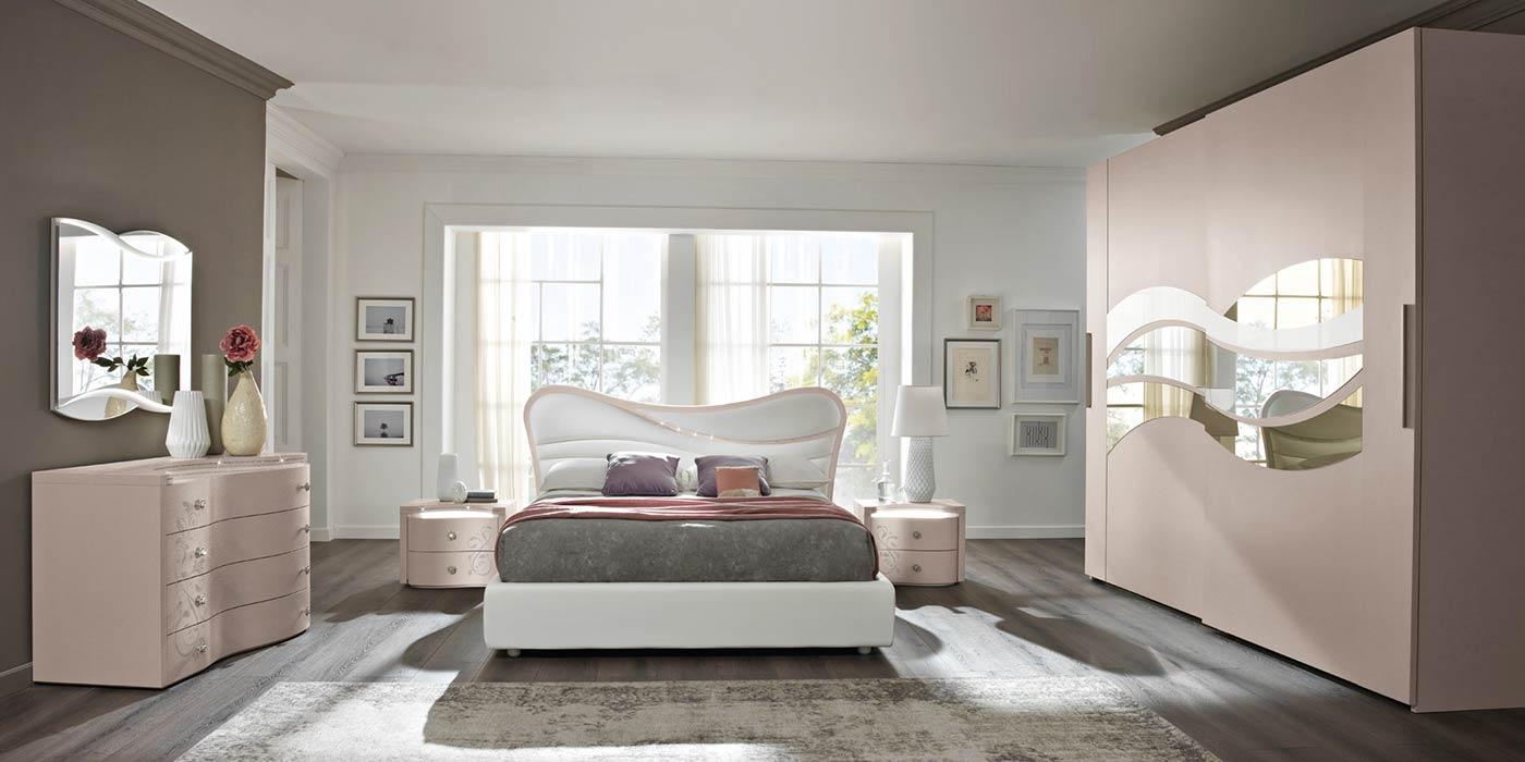 Arredamento camera da letto modello prestige spar for Camere moderne bianche