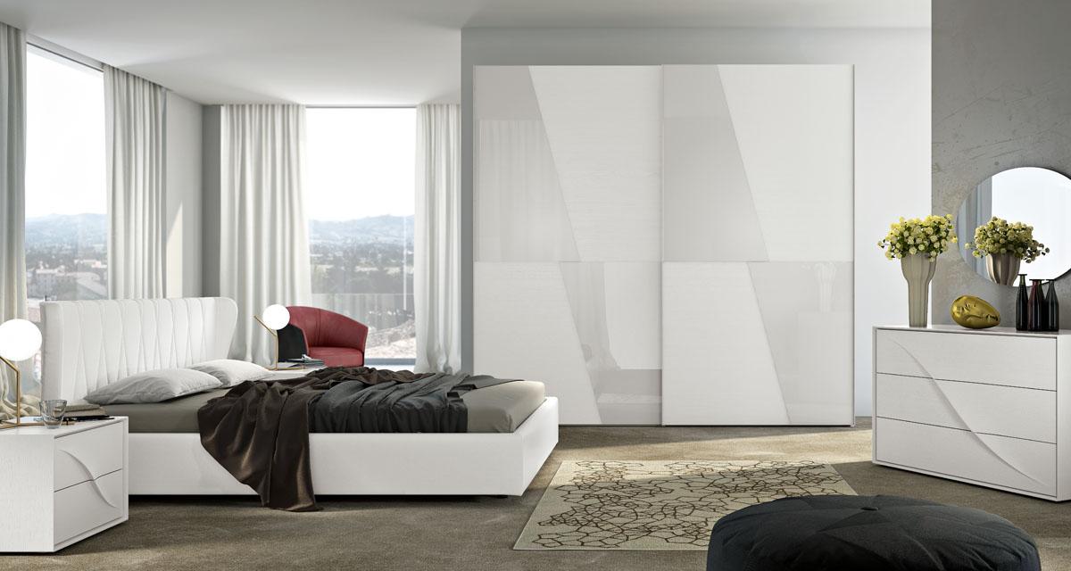 Camere Da Letto Bianche : Arredamento camera da letto modello sistema notte spar