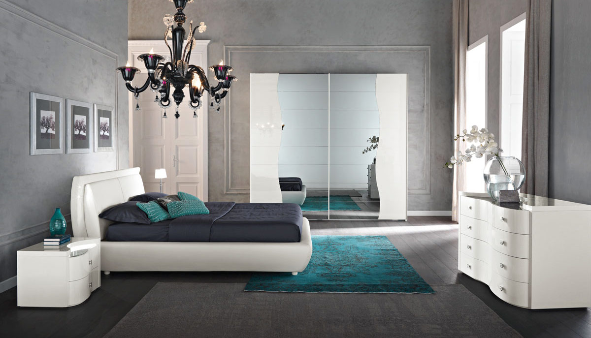 Letto in ecopelle bianco