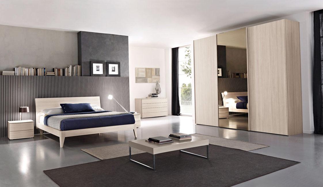 Latest armadio con specchio centrale e ante scorrevoli - Camere da letto stile moderno ...
